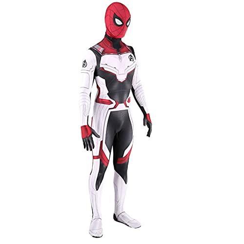 MIANslippers Deadpool Cosplay Disfraz de Halloween Impresión de Halloween Onesies Kids Fancy Dress Adultos Flexible Body Party Performance Disfraz De Cumpleaños Regalos,White-Kids(115~125cm)