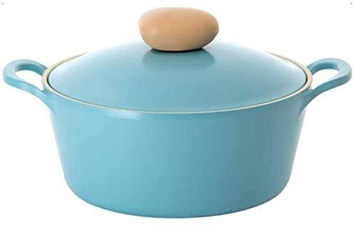 Auflauf Teller mit Deckel Heattressistant Double Eared Gripples Nicht Stock und leicht zu reinigen, um mehrzählig mit weniger Öl for einen gesünderen Koch und ein leichtes Essen zu reinigen, blau