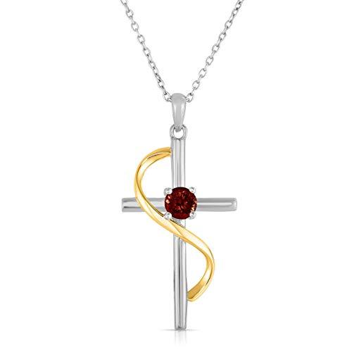 NATALIA DRAKE Blowout Sale Gemstone Cross (Ruby)
