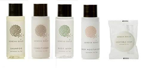 Artículos de tocador del hotel 250 artículos Champú, acondicionador, gel de ducha, loción corporal y jabón por Geneva Guild