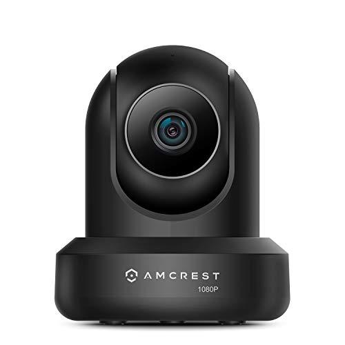 Amcrest 1080P Cámara de seguridad WiFi 2MP (1920TVL) Cámara IP inalámbrica de giro / inclinación para interiores, lente de 4 mm, conversación bidireccional IP2M-841B-V3-EU (negro)