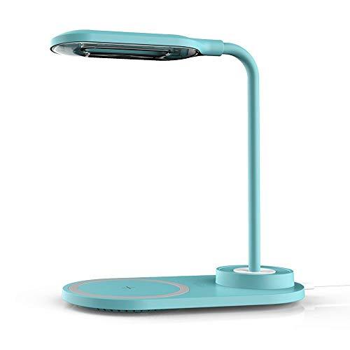Liangsujiantd Flexo Led Escritorio, Enchufa el LED de 10W de Carga inalámbrica del Interruptor LED lámpara de Mesa giratoria Plegable 3 Modos de iluminación táctil Ojo Protegido lámpara de Escritorio