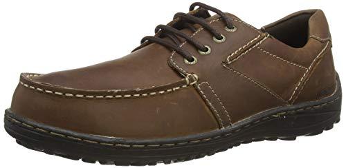Hush Puppies Theo, Zapatos de Cordones Derby Hombre, Brown, 38.5 EU