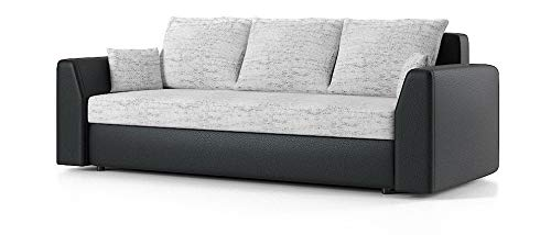 Sofini Couch Paul mit Schlaffunktion! Best Couch! Couch mit Bettkasten! (Lawa 9+ Soft 11)