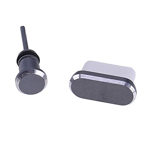 Meifyomng Anti Staubstecker Set USB Typ C Port & 3,5 mm Kopfhörer-Klinkenstecker für Huawei Samsung Galaxy Moto(Grau)
