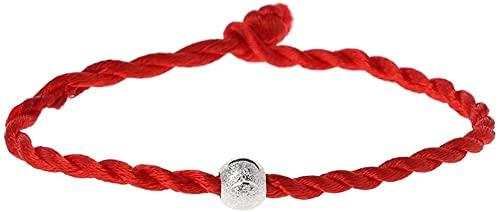 hwljxn FG810 Pulseras de Cuerdas de Cuerda roja Buena Suerte Amuleto Budista joyería de Moda Pulseras Decorativas (Color de Metal: 1) (Size : 1)