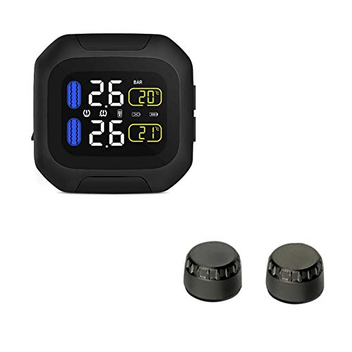 Funihut CAREUD TPMS Reifendruck-Kontrollsystem Motor Auto Reifen Alarm Wireless Wasserdicht Mit 2 Sensoren Für Zweirad Motorrad