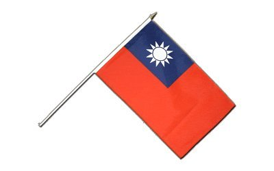 Flaggenfritze Stockflagge Taiwan - 30 x 45 cm