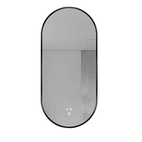 JQQJ Espejo de viaje con espejo de baño inteligente con espejo de luz LED de maquillaje espejo de pared para el hogar (color: Style2, tamaño: 50 cm x 80 cm)