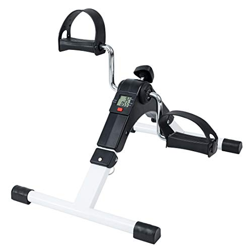 TechFit PED2 Pedaliera, Mini Cyclette per Uso Domestico e in Ufficio, Attrezzo da Allenamento Facile per Braccia e Gambe, con Display LCD, Adatto per Recupero Leggero