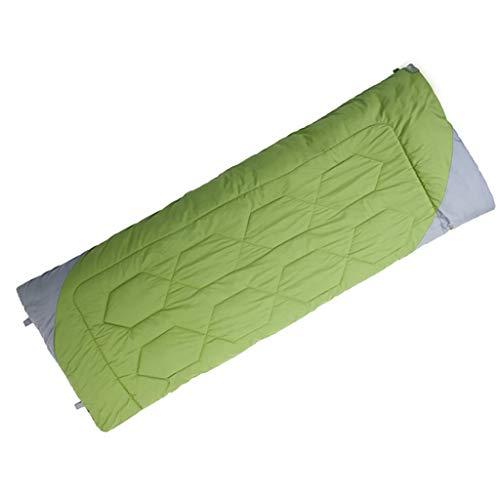 CATRP-Sac de couchage de Couleurs de Bonbon, Chaud, 3 Saisons, léger extérieur approprié au Camping de randonnée Adulte (Color : Green)