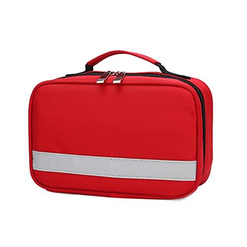 HEHXKJ Caja médica Aislamiento portátil vacío Bolsa refrigerada Familia Primeros Auxilios Pequeño Medicina Insulina refrigerador Caja para el hogar Lugar de Trabajo al Aire Libre (Color : Red)