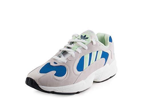 adidas Men's Yung-1 Footwear White/Glow Green/Collegiate Royal 12 D US