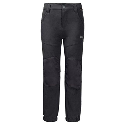Jack Wolfskin Kinder Rascal Winter Pants Kids Atmungsaktiv Wind-und Wasserabweisend Softshell-Hose, schwarz (black), 104