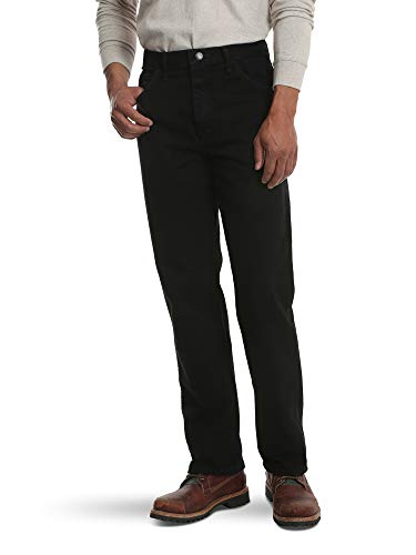 Rustler Classic Men's Regular 5 Pocket Jean, Coal Black, 34W x 32L