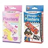 150 Waterproof Plasters/2 packs, 75 Princess 75 Pirate by Masterplast