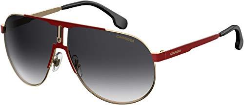 Carrera CA1005/S 0AU2/9O 66M oro rojo/gris oscuro gradiente metal aviador gafas de sol para hombres para mujeres+diseñador libre iWear cuidado kit