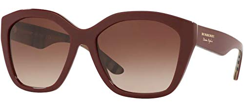 BURBERRY Gafas de Sol LONDON ENGLAND BE 4261 Burgundy/Brown Shaded 57/17/140 mujer