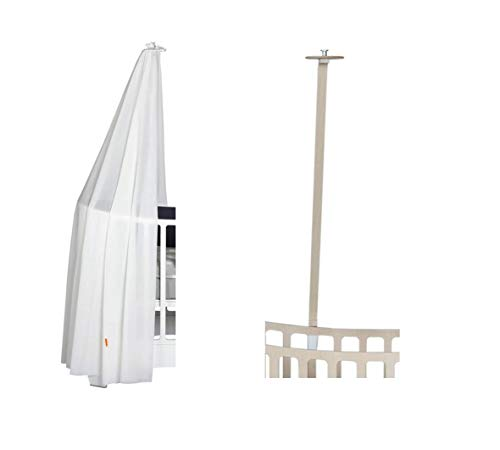 Leander hemelframe whitewash voor leander babybed + hemel (sluier) wit