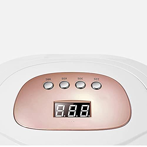 ANGLD-Seguridad Máquina de uñas UV Gel, 150W UV Secador de uñas, para pulsadores de gel: 4 accesorios de clavos de temporizador de temporizador con 4 ajustes de temporizador, sensor automático y LCD P