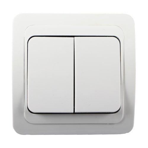Dubbele schakelaar wisselschakelaar schakelaar met frame stopcontact inbouw wit
