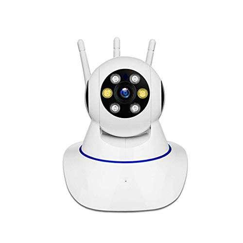 Cámara de seguridad HD WiFi, cámara IP inalámbrica, con giro de 355 ° 120 °, monitor de hogar y bebé con detección de movimiento, audio bidireccional, visión nocturna, compatible con control de aplica