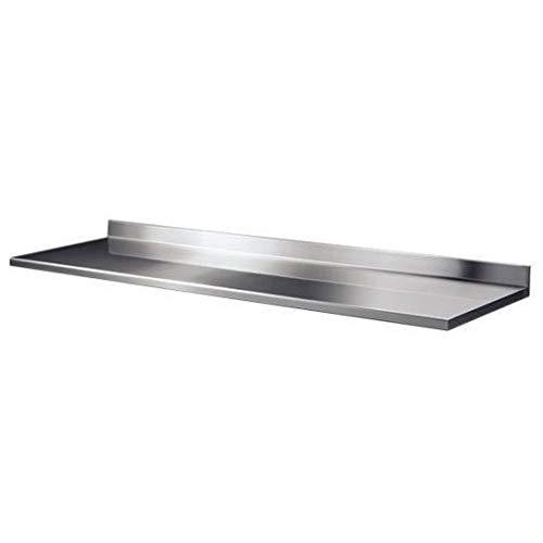 Piano da Lavoro Tutte Le Misure - 60cm profondità per Tavolo in Acciaio con Alzatina. Professionale Cucina (150x60x4h)