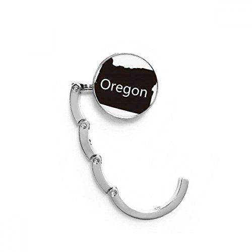 DIYthinker Oregon los Estados Unidos de América Mapa Tabla Gancho Plegable del Bolso de Colgar Titular Escritorio Plegable
