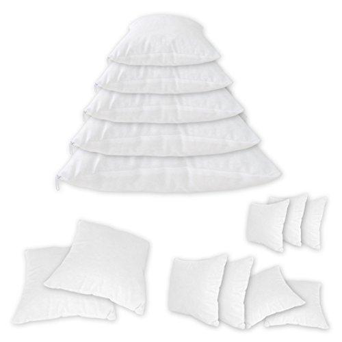 Qool24 Baumwolle Füllkissen mit Reißverschluss Gefüllte Inlett Kissen Sofakissen Innenkissen Schlafkissen 20 Größen Weiß 50x70 cm