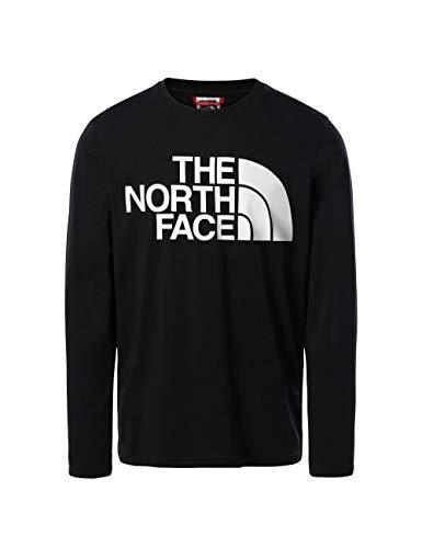 The North Face Men's Standard LS tee - Camiseta para Hombre Negro XL