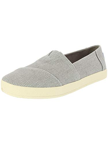 TOMS Women's Avalon Slip On Drizzle Grey Heavy Canvas 8 M US