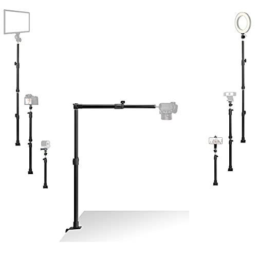 Tischplatte-Kamera-Halterung, Multifunktionale DSLR-Videoaufnahme Halter, kompatibel mit Camcorders, Webcams,iPhone, Samsung, Lichtpaneele, für Nagelkunst, Basteln, Keramik, Make-up, Online-Kurs