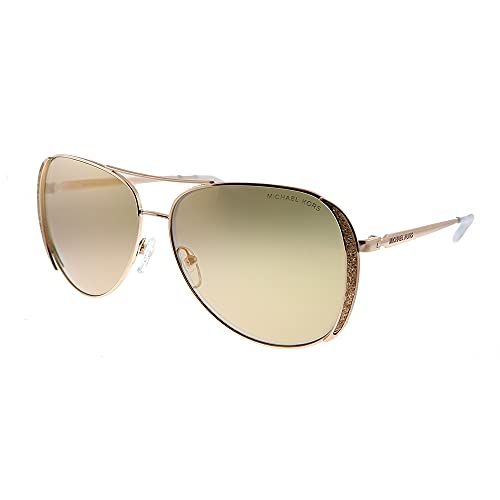 Michael Kors MK1082 Chelsea Glam Rose Gold Frame/Rose Gold Flash Lens One Size