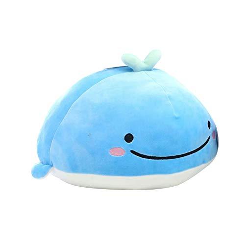 Cuddly Toy Peluche Jouet Cartoon Shark Whale Animal Stuffed Doll Throw Soft Fluffy Sofa Décoration Cadeau d'anniversaire - Baleine ##