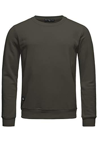 Red Bridge Herren Crewneck Sweatshirt Pullover Premium Basic,Khaki-ii,XL