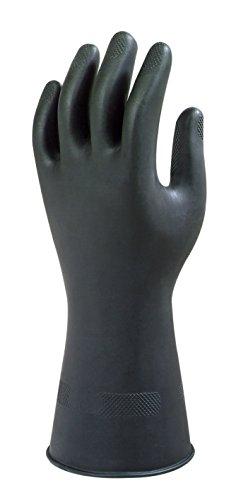 Ansell Alphatec 87-118 Mehrzweck-Arbeitshandschuhe, Hohe Beständigkeit Chemikalien, Dickes und Flexibles Design, Baumwoll Velours Innenausstattung, Größe 9/L (1 Paar)