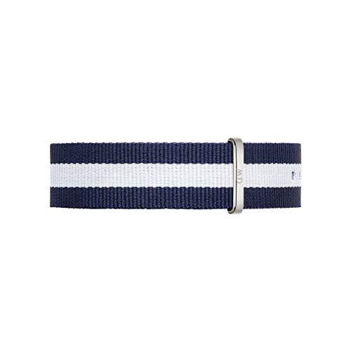 Daniel Wellington Classic Glasgow, Correa Azul-Blanco/Plateado Reloj, 20mm, NATO, para Hombre