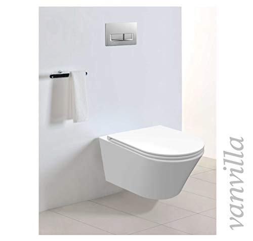 vanvilla Design Hänge WC Spülrandlos rimless + Hänge Bidet SET Luanda, inklusive Soft-Close - 2