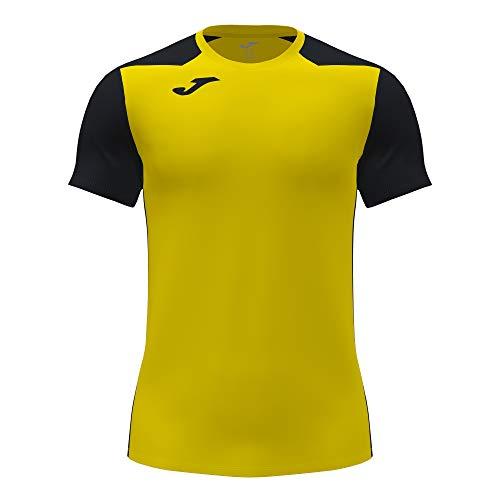 Camiseta Manga Corta Record II Amarillo Negro
