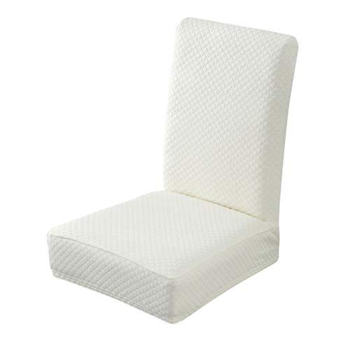 Serria® Stuhlhussen Stretch, Stuhlabdeckung elastisch Spannbezug Elastische handgemachte wasserdichte dekorative Stuhl-Sitzbezüge Weiß