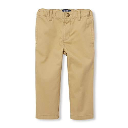 The Children's Place Little Boys and Toddler Chino Pant, Flax, 3T
