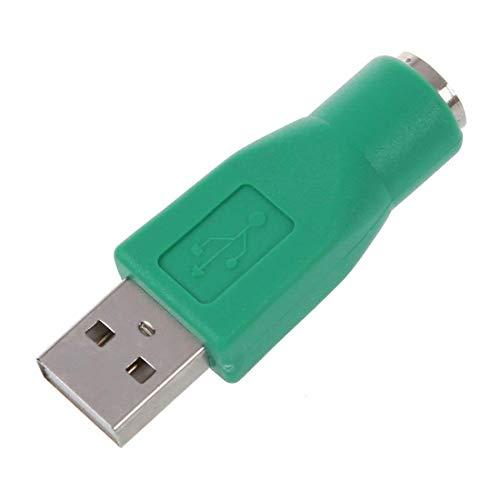 Naisicatar 2er Pack PS / 2-Stecker auf USB Buchse Adapter Ersatz-PS / 2 auf USB Konverter für alte Tastatur Maus Grün Haltbar und Pratical