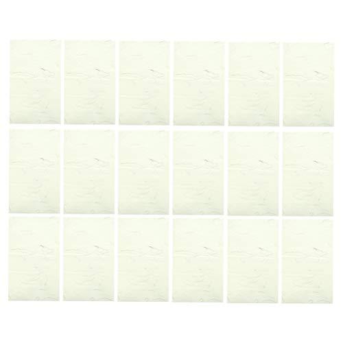 Papel de caligrafia chinesa STOBOK 40 pçs Pincel de flores natural para plantas Arroz Papel artesanal Tecido de arte Xuan Papel para escrever papel