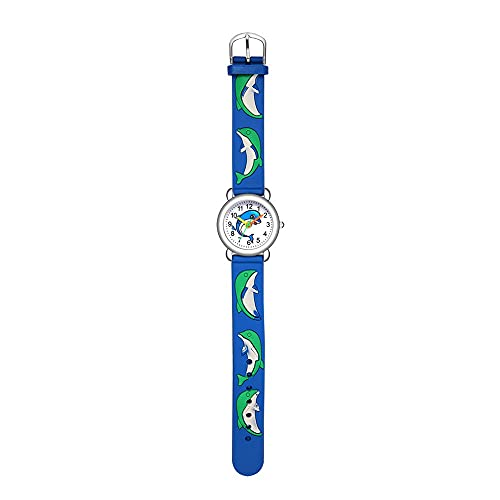 CXJC Reloj de Cuarzo de Dibujos Animados de Dibujos Animados 3D, Reloj Deportivo para Estudiantes de Primaria y Secundaria, 3ATM Impermeable (Color : Si)