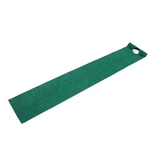 Golf Putting Mat Profesional Portátil Mini Verde Golf Putting Mat Interior y Exterior Herramientas de Entrenamiento de Golf