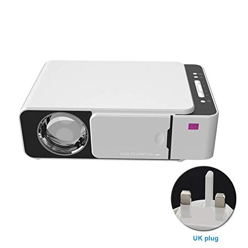 Proyector, Habitación Proyector Mini Portátil Vídeo ,HD 1080P Dormitorio Cine en Casa Película Compatible Con Pincho TV / VGA/ Tf / Av / USB/ Micro-Sd