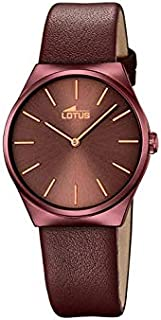 Lotus watches Womens Analog Quartz Watch with Leather bracelet 18482/A