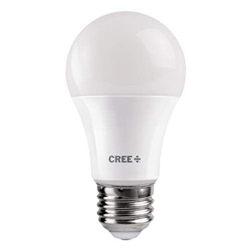 Cree Lighting A19 100W Equivalent LED Bulb, 1600 lumens, Dimmable, Soft White 2700K, 25,000 Hour Rated Life, 90+ CRI | 1-Pack