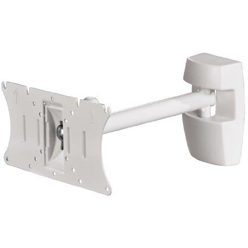 Hama 96044 TV Wandhalterung Fullmotion, 1 Arm, S, 25-81cm (10 - 32 Zoll), VESA 200x100, max. 20 kg, vollbeweglich, weiß