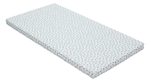 Best For Kids Kinderbettmatratze, Babymatratze 60x120 cm Kinder Rollmatratze 5 cm aus 100% Baumwolle (grün)